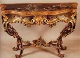 Tavolo da muro napoletano 1760 -70 - Napoli, Museo Nazionale di Capodimonte
