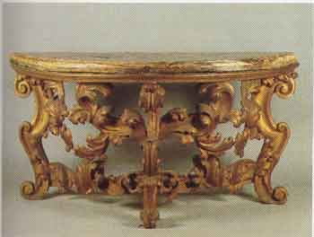 Consolle itagliata e dorata stile Barocco
