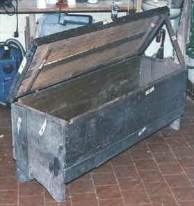 Condizioni dellla cassapanca prima del restauro