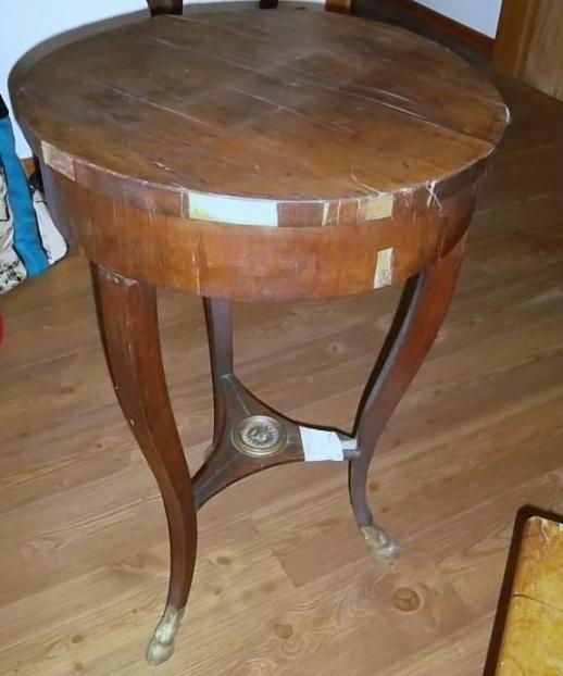 tavolino lastronato epoca impero