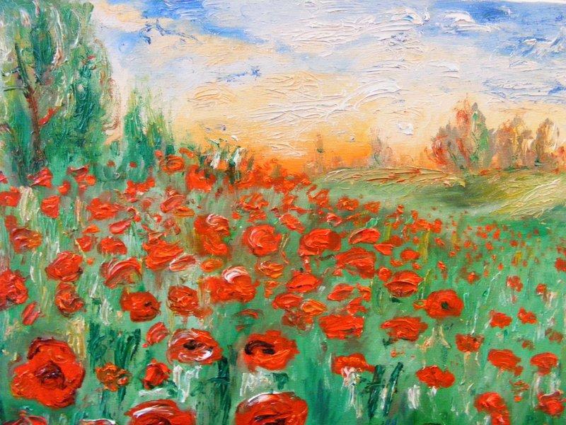 SORRISO DI MAGGIO: originale, olio su tela, anno 2010, 40/45 cm, senza cornice;