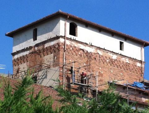 Torre di Frugarolo lati sud-est dopo il restauro