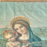 Restauro di oleografia di Madonna con Bambino