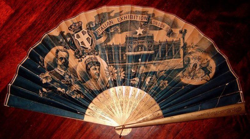 Ventaglio commemorativo dell'Expo italiana a londra nel 1888