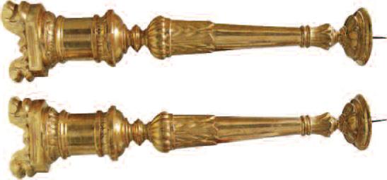 Restauro di due candelabri dorati