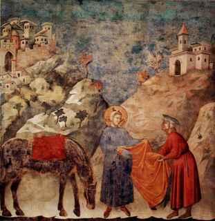 Affresco di Giotto nella Basilica superiore di Assisi