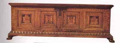 Cassone lombardo della fine del 400. Musei del Castello Sforzesco, MIlano