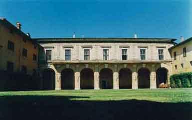 Veduta del Palazzo barbò a Torre Pallavicina (BG)