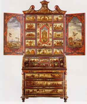 """Trumeaux veneziano decorato a """"lacca povera"""": inizio del XVIII sec. Musei del Castello Sforzesco"""