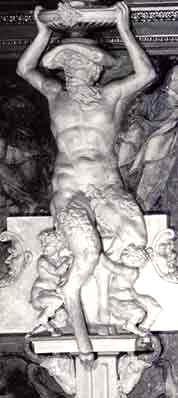 Fauno del periodo del manierismo presente nella galleria di Fontainebleau