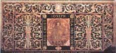 Paliotto dell'altare maggiore, opera di don Carlo Belleni