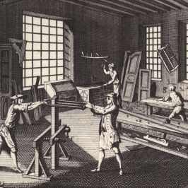 La bottega dell'ebanista dall'Encyclopédie, 1751-72