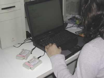 Monitoraggio locale del regime termoigrometrico. Fase di trasferimento delle informazioni acquisite