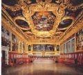 La sala del Senato o dei Pregadi in Palazzo Ducale di Venezia, punto di eccellenza dell'artigianato artistico veneto.