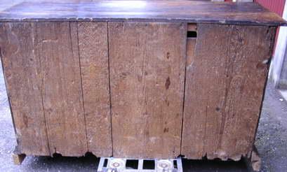 La schiena prima dell'intervento di restauro