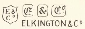 Elkington&C: lettere datarie dal 1912 al 1936