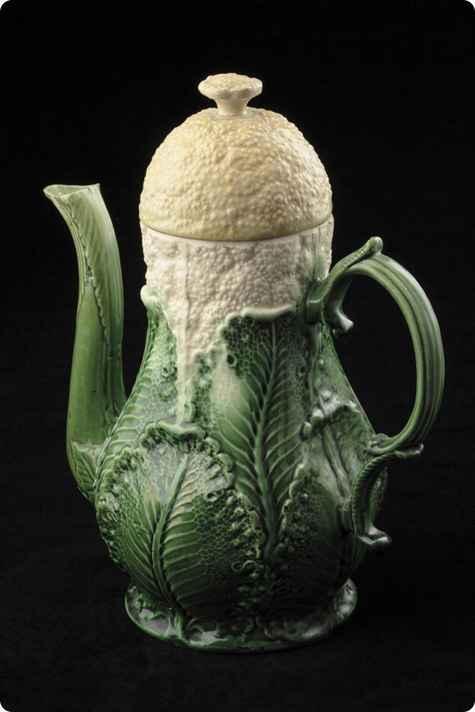 Le Porcellane Wedgwood:Caffettiera Wedgwood a forma di cavolo