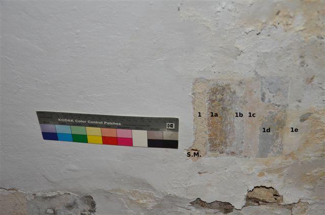 Gipsoteca Monteverdi: Stratigrafia intonaco