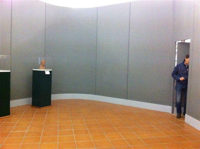 Gipsoteca Monteverdi: sala n. 1 nuova pannellatura