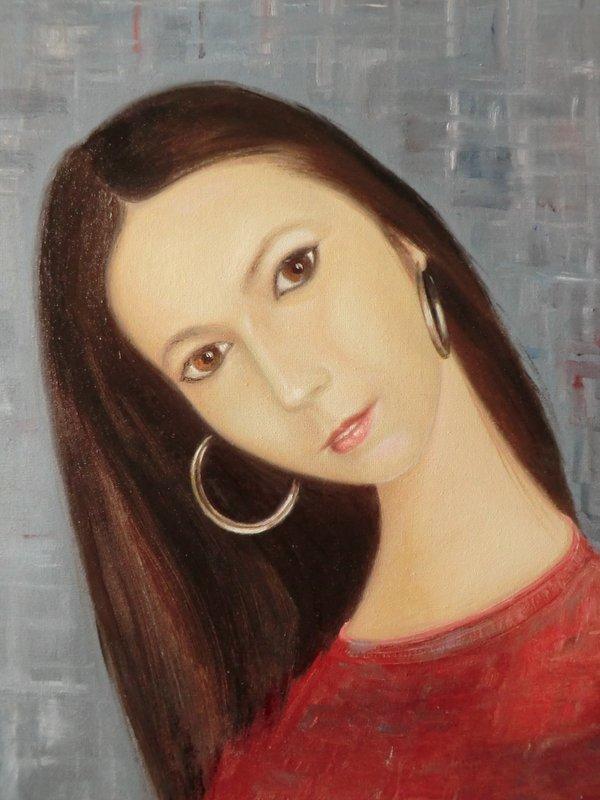 LAURA: pittura originale, olio su tela, anno 2013, 30/35 cm, senza cornice;
