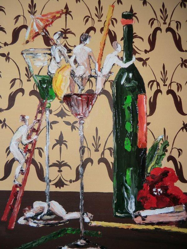 SWEET LIFE: originale, tecnica mista su cartone telato, anno 2012, 30/40 cm, senza cornice;