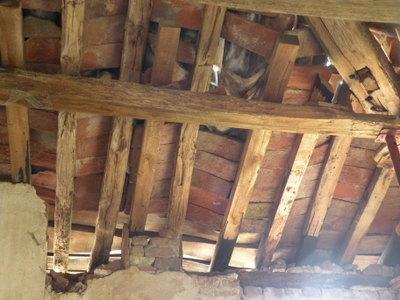 Torre di Frugarolo copertura prima del restauro